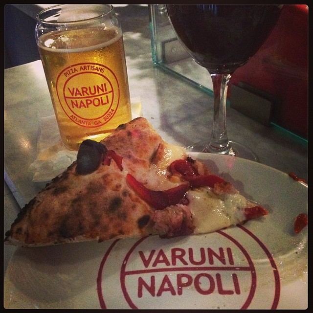 Pizza, Beer and Wine - not exactly diet friendly...but WORTH it!