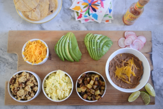 Cupcakes and Cashmere Breakfast Taco Bar