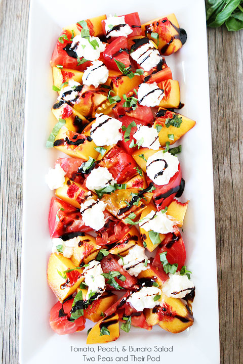 tomato peach cheese salad