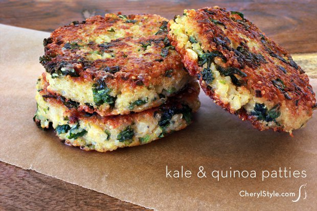 super-healthy kale quinoa patties recipe
