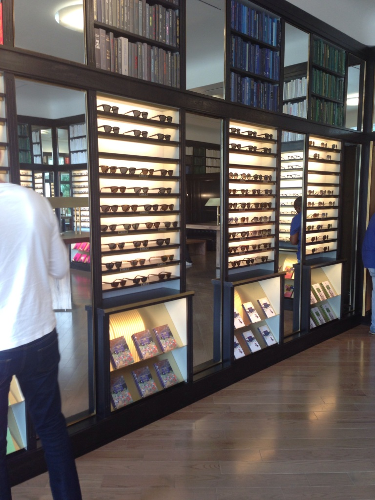 warby parker glasses display