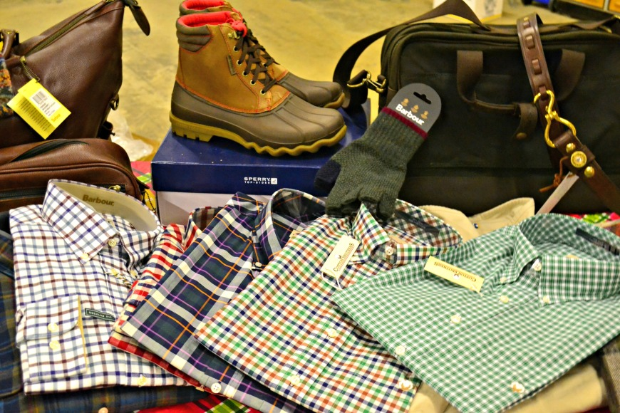 Sperry shoes and Barbour button downs for the guys.