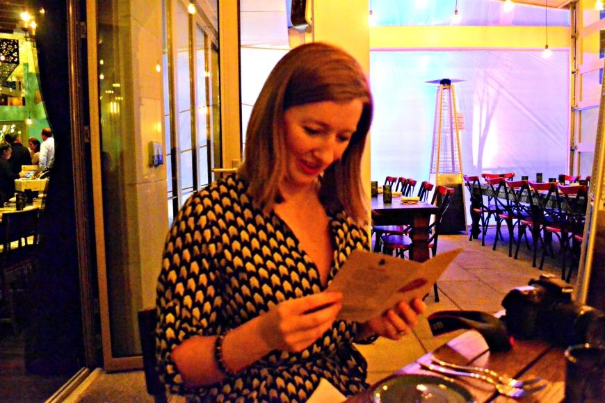 meg reading menu gypsy kitchen