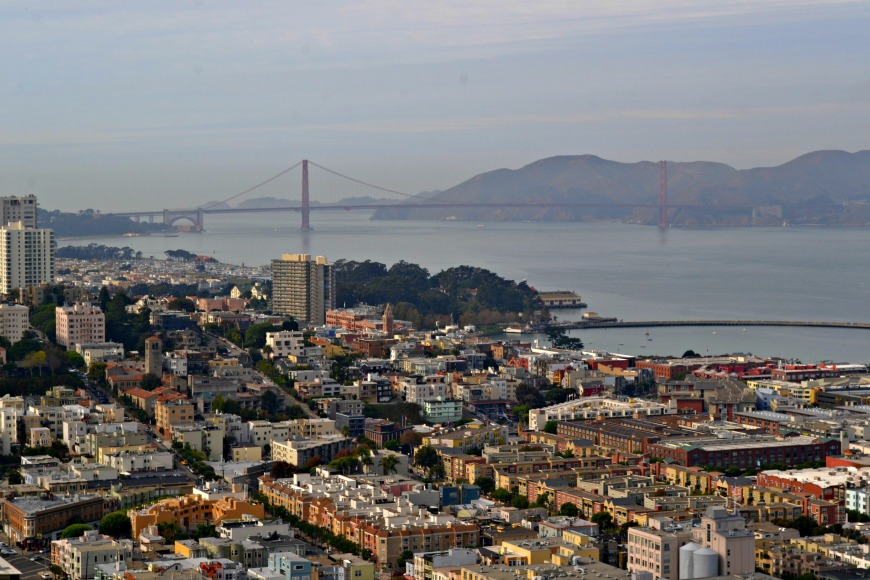 view of san fran from coit tower