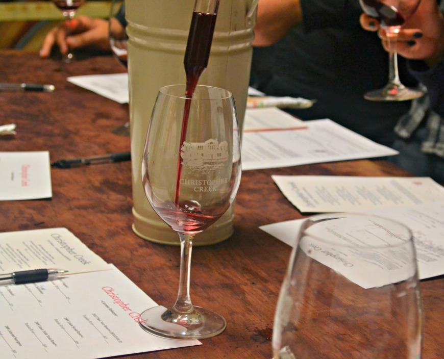 christopher creek wine glass