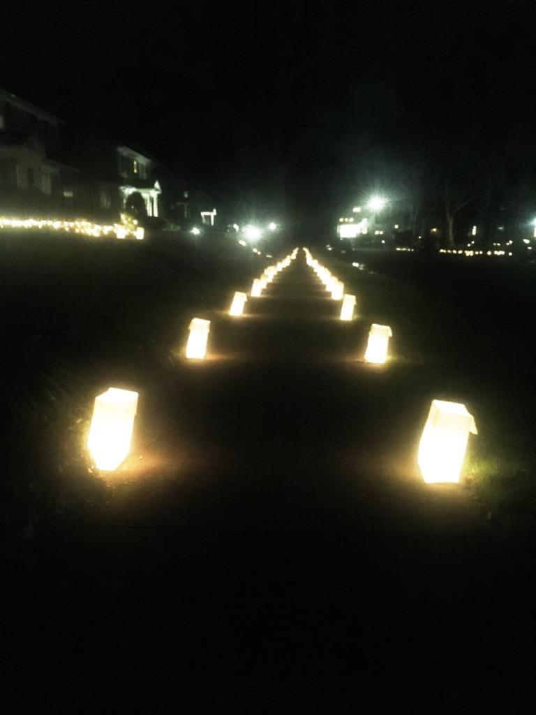 Christmas night luminaries