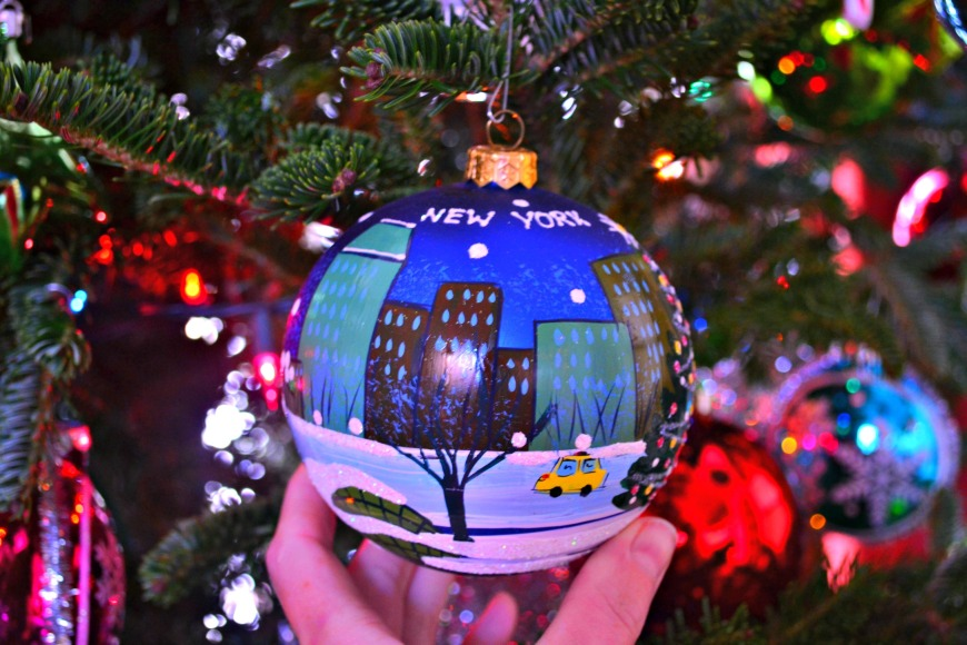 nyc christmas ornament