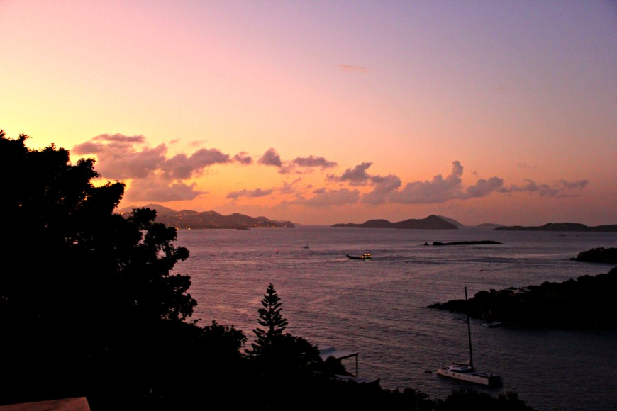 Sunset in St. John